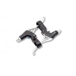 Manetas Frenos Saccon L65 Aluminio Plata/Negro
