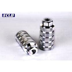 Reposa Pies CLB BMX Aluminio Plata Rosca 14 mm
