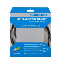Kit Cables y Fundas Cambios Shimano 105 R7000 Negro