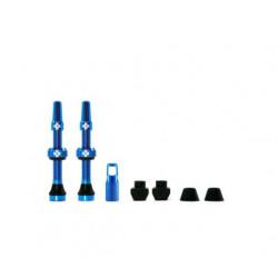 Válvulas Tubeless Muc-Off Presta Aluminio 44 mm Azul