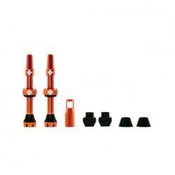 Válvulas Tubeless Muc-Off V2 Presta Aluminio 44 mm Naranja