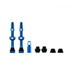 Válvulas Tubeless Muc-Off V2 Presta Aluminio 44 mm Azul